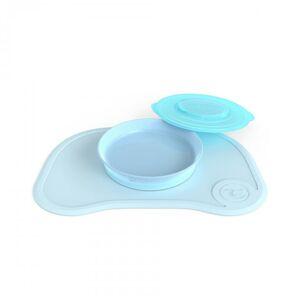 Twistshake Protiskluzová Podložka Click Mat + talíř 6+m Pastelově modrá