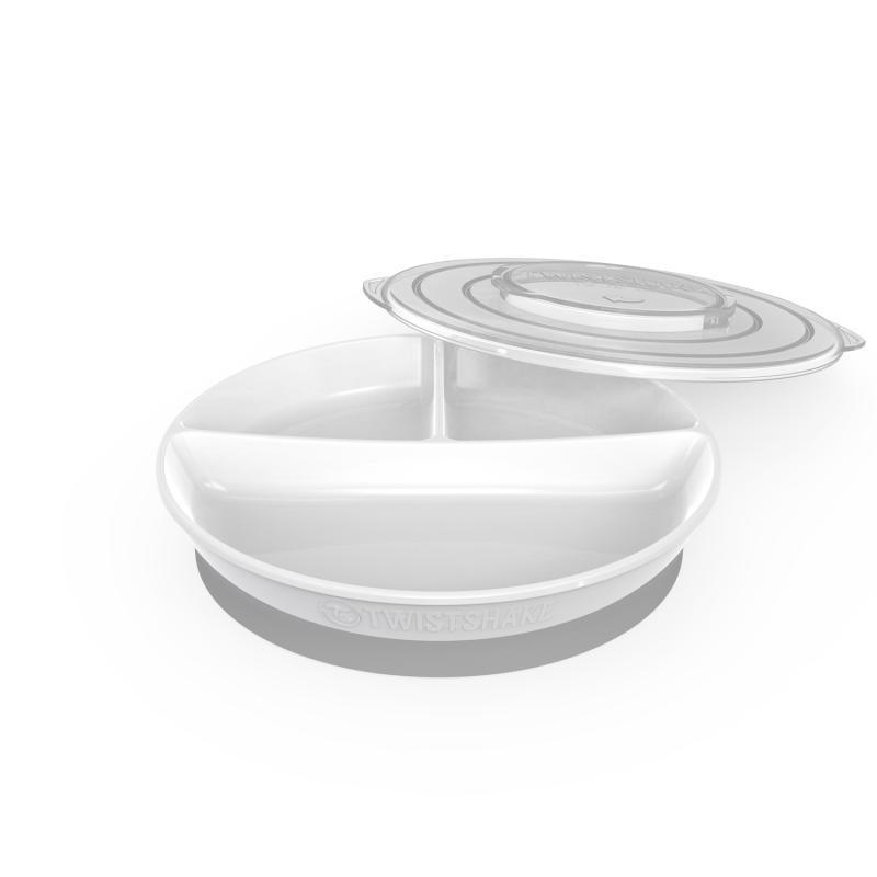 Twistshake Dělený talíř 6+m Bílá