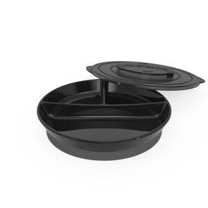 Twistshake Dělený talíř 6+m Černá