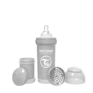 Twistshake Kojenecká láhev Anti-Colic 260ml (dudl.M) Pastelově šedá
