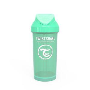 Twistshake Láhev s brčkem 360 ml 12+m Pastelově zelená