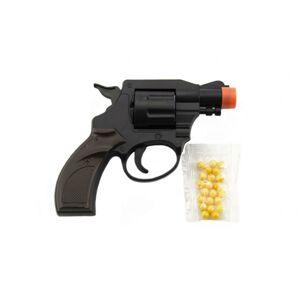 Teddies Pištoľ / Revolver na guličky plast 14cm v sáčku