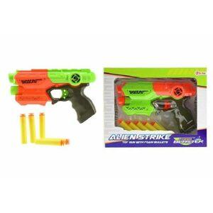 Teddies Pištoľ na penové náboje 5ks plast 20cm, viac farieb