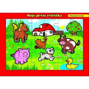 Teddies Puzzle doskové Moje prvé zvieratká farma 26x17cm 24 dielikov MPZ