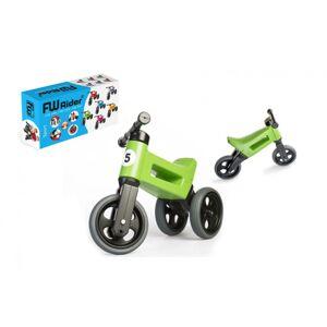 TEDDIES Odrážedlo FUNNY WHEELS Rider Sport 2v1 zelené   v krabici
