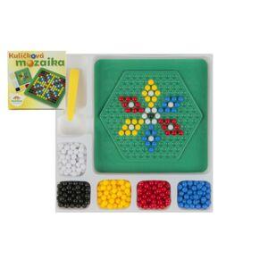 Teddies Mozaika guličkové malá plast 12x12cm v krabičke
